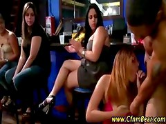 CFNM stripper gets cock sucked at CFNM party