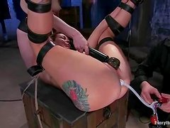 Bondage pleasures with two kinky lesbians