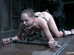 Hot chick shows her love for pain, obedience and bondage