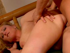Sexy Milf is riding her new friends Dick