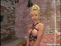 Nasty redhead Ivy gets whipped by salacious blonde mom Janay