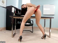 Brunette Mira shows her love for stripping on camera