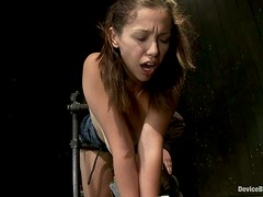 Bounded Babe Audrey Rose Gets Her Exposed Pussy Toyed in BDSM vid