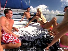 Boroka Is On A Boat With A Couple Of Horny Dudes