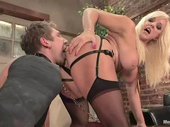 Alexis Golden makes Danny Wylde lick her snatch before she fucks his ass