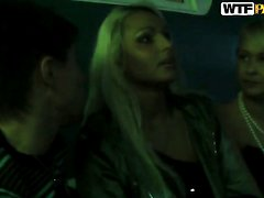 Blonde does oral job for horny guy to enjoy