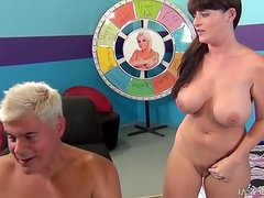 Busty brunette Sophie Dee toys her vag and gets it licked and fucked