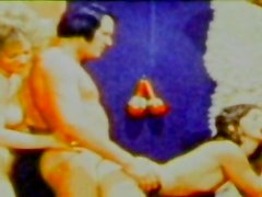 Alluring vintage group sex scene