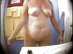 Great body of my mom nude in bath room. Hidden cam