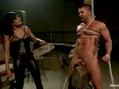 Beretta James ties up Dominic Pacifico and the pegging takes place