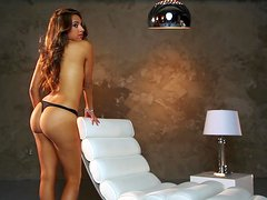 Mya Barrymore shows her tits and well-rounded ass at Playboy photo shoot