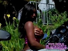 Jada Fire shows off her big black tits