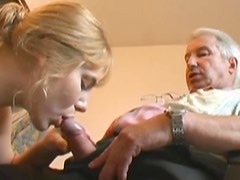 Jenna pleasing her old friend Robert with a nice blowjob