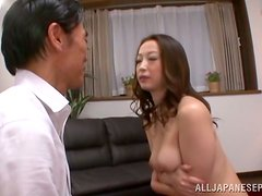 Exotic Japanese milf is loving him in known poses