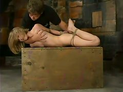 Chloe Hart Getting Totally Tied Up with Boobs Almost Bursting