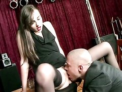 Sasha Grey gets her mouth stretched by