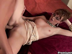 Marie McCray gives mans rock hard meat pole a try
