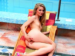 Cayenne Klein with shaved beaver dreaming about real sex