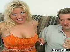 Erica blows and gets her juicy snatch pounded from behind
