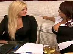 Shyla Stylez and her GF suck a cock before taking it into their pussies