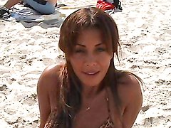 Sexy Latina's fucked hard by a horny beach after meeting