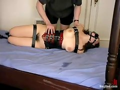 Busty Serena gets whipped and humiliated by her master