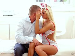 Tommy D gets gets fucked by a gorgeous blonde nurse