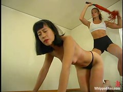 Asian slut loves to be slapped and tortured