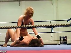 This weeks bitchy catfight features Lisa Sparkle vs. Linda Ray. Slowly they approach each other in the boxing ring and the ferocious fight over submission starts. When theyre