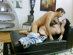 Skinny amateur chick is getting fucked hard doggy style by Rocco