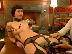 Busty chicks Bella Rossi and Cherry Torn are in BDSM