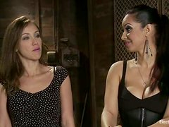 Naughty Isis Love Playing with Beautiful Audrey Rose in Lesbian Femdom