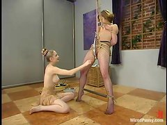 Crazy Bondage and Wild Toying Fun in Lesbian BDSM Video