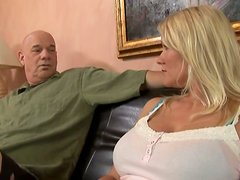 Busty MILF Juliana Jolene Giving Head and Getting Laid on the Couch