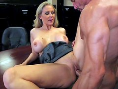 Attractive experienced and cock loving blonde milf Julia Ann with