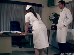 Wild nurse Shiori Kamisaki always behave naughty with patients.