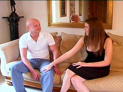 Babe loves sucking his cock after he bangs her