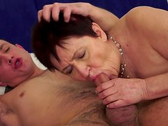 Anastasia is sucking this truly young dick