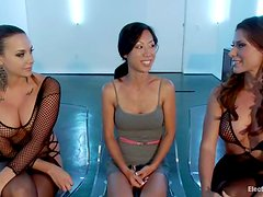 Lesbian BDSM Threesome with Anal Toying and Pussy Torture for Tia Ling