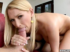 Blake Rose with juicy boobs and hairless pussy and a