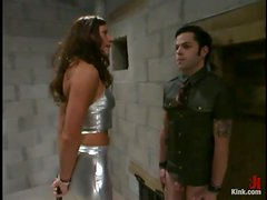 Dominant Bitch Kym Wilde Playing with Submissive Guy in Humiliation Vid