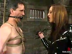 Kinky Deja Daire dominates a guy and destroys his ass