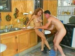Sex in the kitchen with a desirable angel Candy