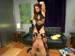 Franco gets his ass beaten by Kym Wilde in a hot BDSM scene