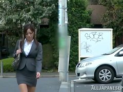 Banging Minami Asano's Pussy with Her Working Clothes On