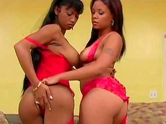 Boobalicious brown babes having fun with each other