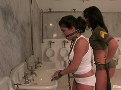 Michele Avanti gets humiliated and toyed in a toilet