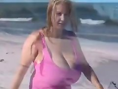 the biggest boobs on the beach
