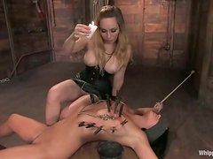 Devi Emerson gets fingered and toyed in bondage video