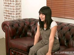 Kinky japanese teen amateur performs alluring solo action.